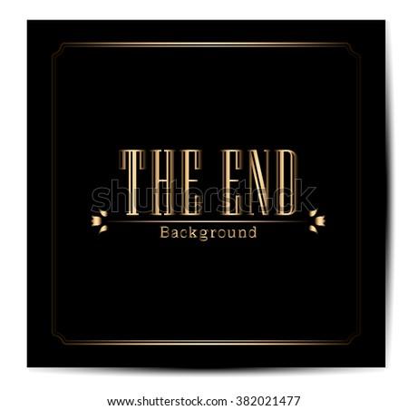 Movie ending screen - Editable Vector EPS10 - stock vector