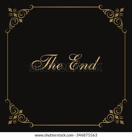 Movie ending vector screen - stock vector