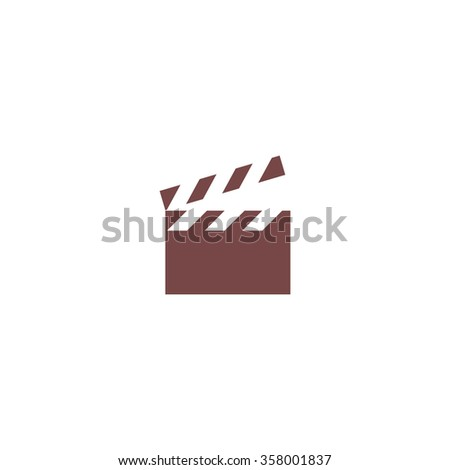 Movie film board. Colorful vector icon. Simple retro color modern illustration pictogram. Collection concept symbol for infographic project and logo - stock vector