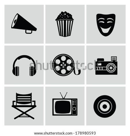Movie icons,vector - stock vector