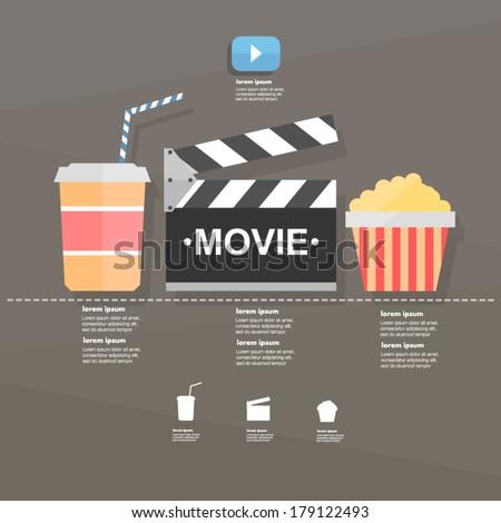 Movie. infographic - stock vector