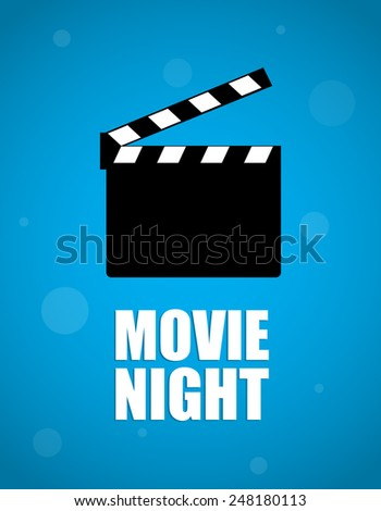 movie night background - stock vector