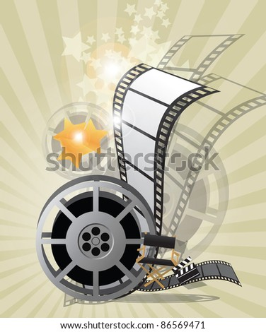 Movie poster, vector - stock vector