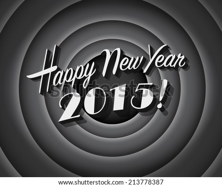 Movie still screen - Happy New Year 2015 - Editable Vector EPS10 - stock vector