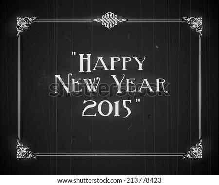 Movie still screen - Happy New Year 2015 - EPS10 - stock vector