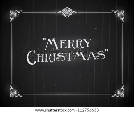 Movie still screen - Merry Christmas - Editable Vector EPS10 - stock vector