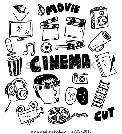 movie themed doodle - stock vector