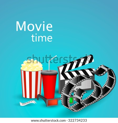 Movie time - stock vector