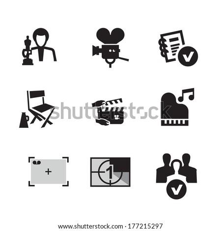 Movie. Vector format - stock vector