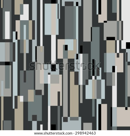 moving rectangles dark gray seamless pattern - stock vector