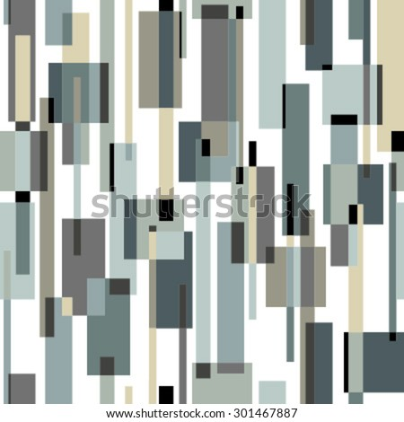 moving rectangles on white seamless pattern - stock vector