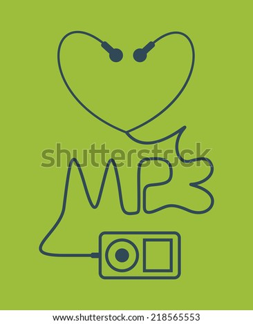 MP3. Abstract illustration. - stock vector