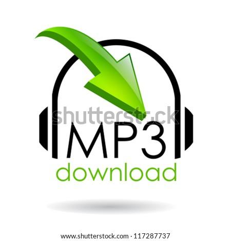 Mp3 download vector symbol - stock vector
