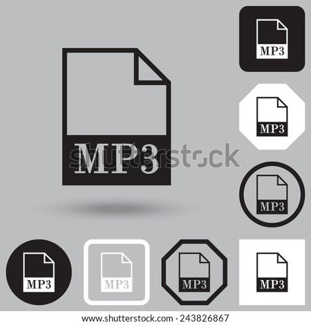 MP3 file icon. Vector - stock vector