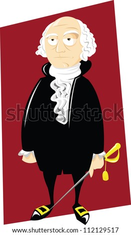 Mr George Washington - stock vector