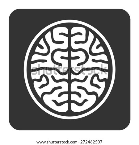 MRI brain scan flat icon for medical apps and websites - stock vector