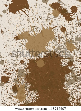 Mud vector background - stock vector