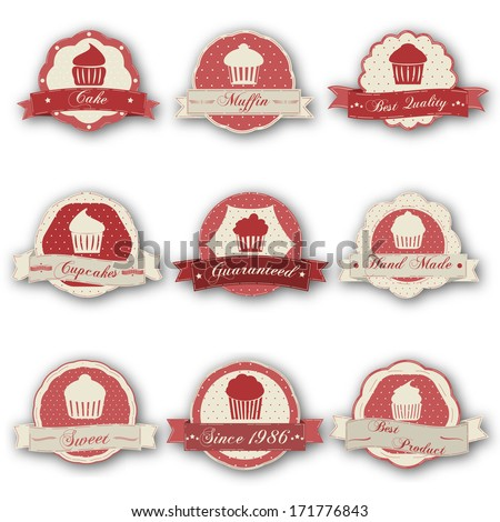 Muffin labels  - stock vector