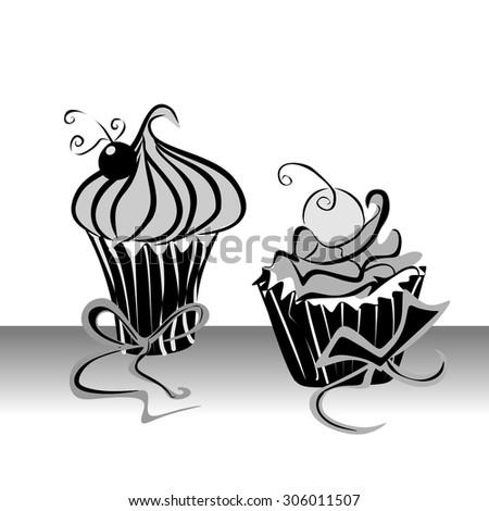 Muffin vector - stock vector