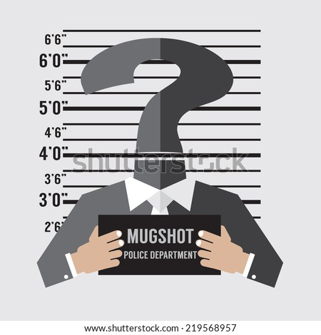 Mug Shot Of The Unknown Accused Vector Illustration - stock vector