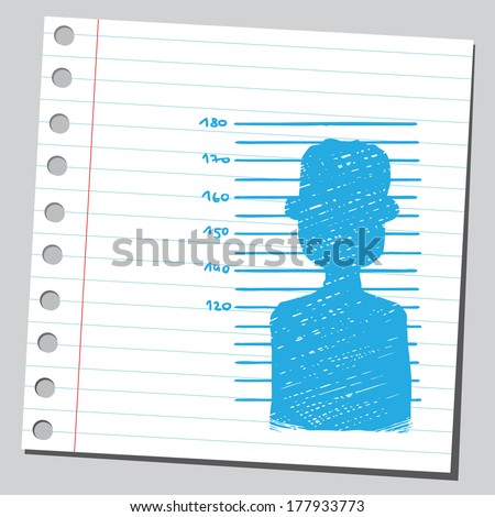 Mug shot silhouette - stock vector