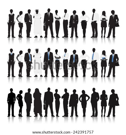 Multi-ethnic Business people Vector - stock vector