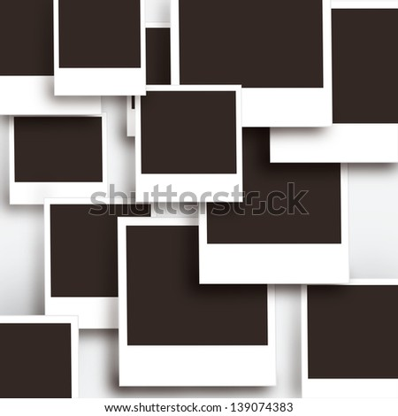 Multi photo frames background or texture - stock vector