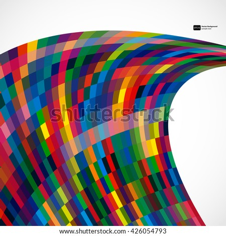 Multicolor abstract  background with bright elements for design. Eps10. - stock vector