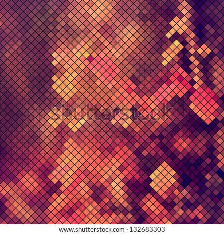 multicolor abstract light disco background square pixel mosaic vector eps 10 - stock vector