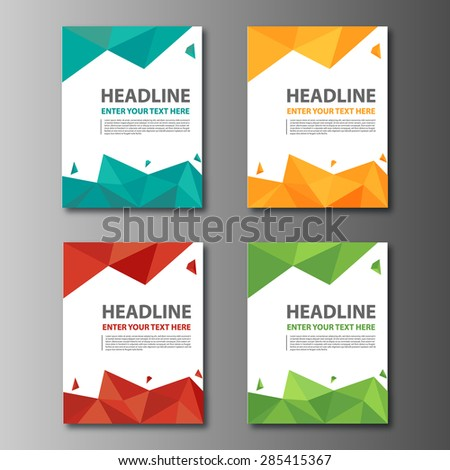 Multicolor Brochure Flyer Modern design template - stock vector