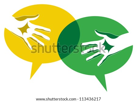 Multicolor creative diversity hands background. Vector illustration layered for easy manipulation and custom coloring. - stock vector