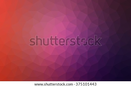 Multicolor dark pink, red, orange polygonal illustration, which consist of triangles. Geometric background in Origami style with gradient. Triangular design for your business. - stock vector