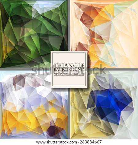 Multicolor Design Templates. Geometric Triangular Abstract Modern Vector Background.  - stock vector