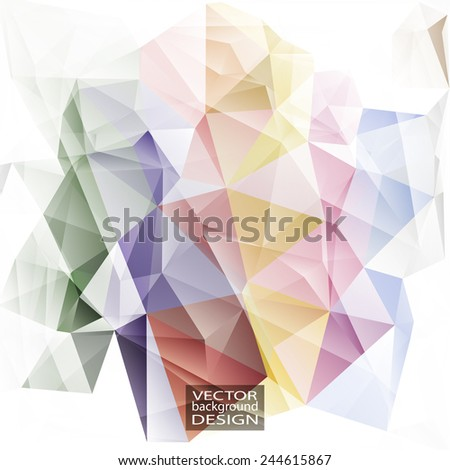 Multicolor ( Green, Red, Yellow ) Design Templates. Geometric Triangular Abstract Modern Vector Background.  - stock vector