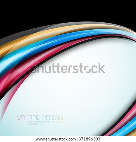 multicolor overlapping colorful abstract lines cartoon effect design - stock vector