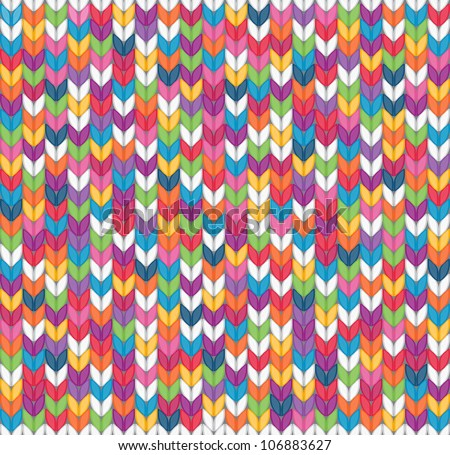 Multicolor seamless knitted background. EPS 8 vector illustration. - stock vector