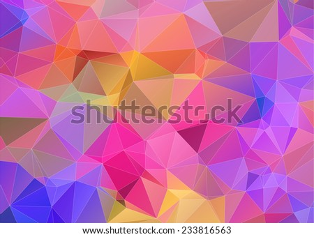 Multicolor triangle abstract background - stock vector