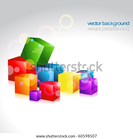 multicolor vector design artwork background - stock vector