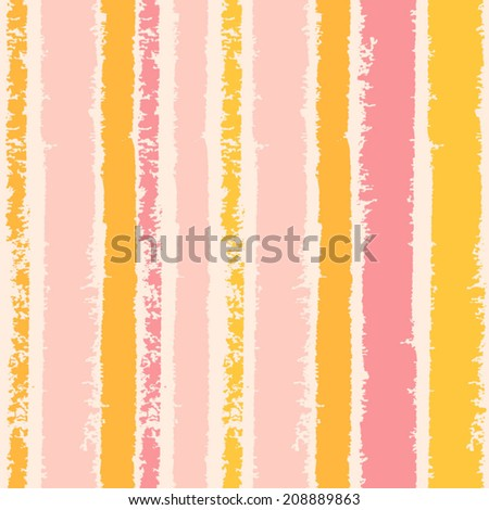 Multicolor watercolor line seamless pattern. Abstract background with hand drawn stripes. Vector pink and yellow lines background. Abstract multicolor texture. - stock vector