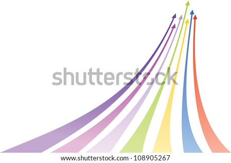 Multicolored arrows. Vector illustration - stock vector