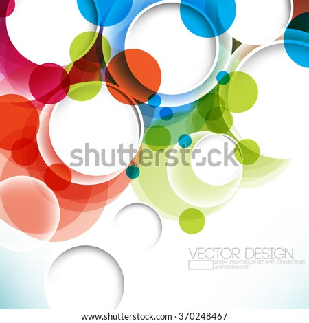 multicolored background overlapping geometric circle concept design - stock vector