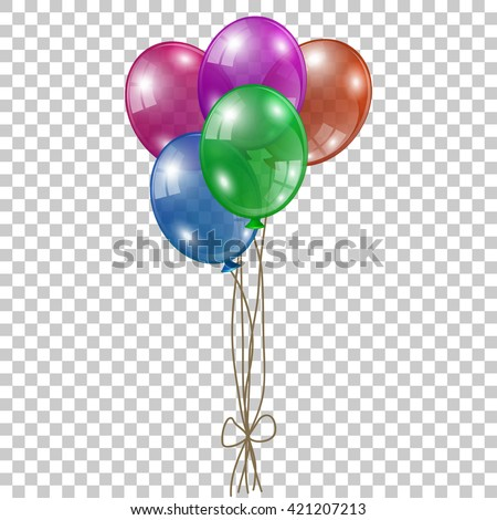 multicolored balloons - stock vector