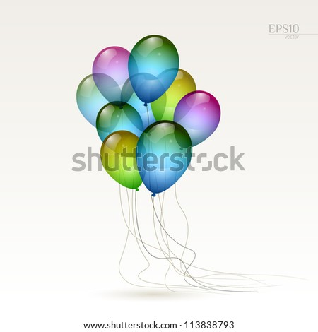 Multicolored balloons, eps10 vector - stock vector