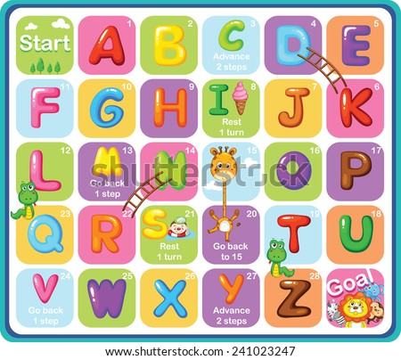 Multicolored Cartoon Vector Alphabets - stock vector