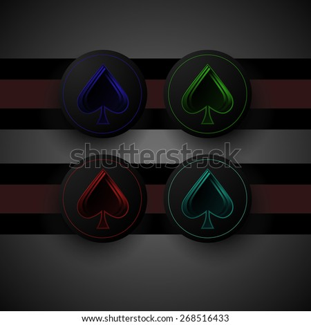 multicolored chips - stock vector