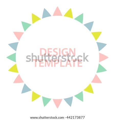 Multicolored circle frame. Vector illustration. - stock vector