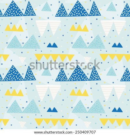Multicolored fun seamless pattern for party. Bright and funny background. Abstract seamless texture can be used for celebration or party. - stock vector