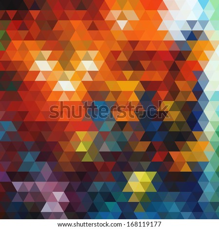 multicolored vector geometric background with gradients  lines  different colors pattern triangle eps 10 - stock vector