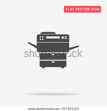 Multifunction printer icon. Vector concept illustration for design. - stock vector