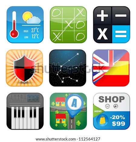 Multimedia icons. Highly detailed vector Icons for Web Applications - stock vector